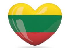 Lithuania heart flag